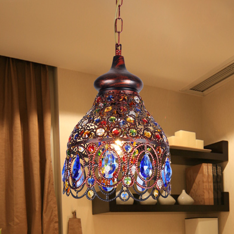 Top rated southeast asia thai style small chandelier colored crystal top rated southeast asia thai style small chandelier colored crystal chandeliers bohemian mediterranean restaurant decoration in pendant lights from lights aloadofball Images