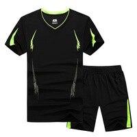 GSPBG 2017 Fashion Summer Men Set Sporting Suit Short Sleeve T Shirt Shorts Two Piece Set
