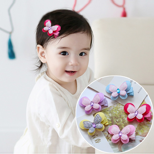 1 PCS 2017 New Fashion Cute Sequin Butterfly Hairpins Girls Hair Accessories Children Headwear Baby Hair Clips Headdress butterfly shell pearl camellia hairpins new retro edge hair clips hair ornaments headdress girls hair accessories for women 1pcs