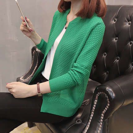 2019 Fashion Women summer Cardigan Sweaters Spring Long Sleeve O-Neck Knitted Sweater Female knitting ponchos and capes Pull 1