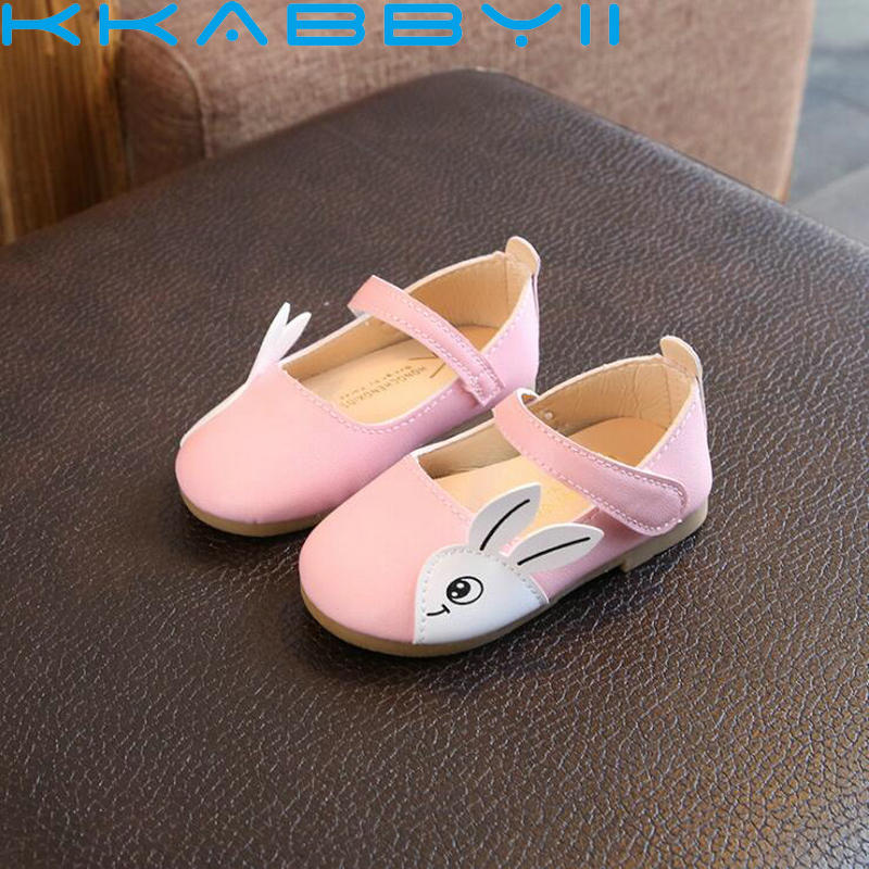 2018 Spring Autumn Children PU Leather Casual Shoes Cute Cartoon Slip-on Breathable Girls Shoes Kids Flat