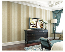 beibehang Simple European stereo foam nonwoven wall paper Bedroom living room solid color vertical stripes full 3d wallpaper beibehang simple plain white beige brown wallpaper 3d living room bedroom background full vertical stripes 3d wallpaper rolls