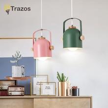 hot deal buy modern dining room lights pendant lamp art pendant lights colorful lamp shade luminaire for home lighting