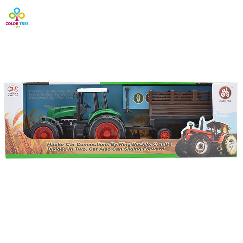 Toy Tractors For Sale >> Us 20 75 Hot Sale Farm Tractors Series Timber Transporter Model Car Toy Car Gift For Kids In Diecasts Toy Vehicles From Toys Hobbies On