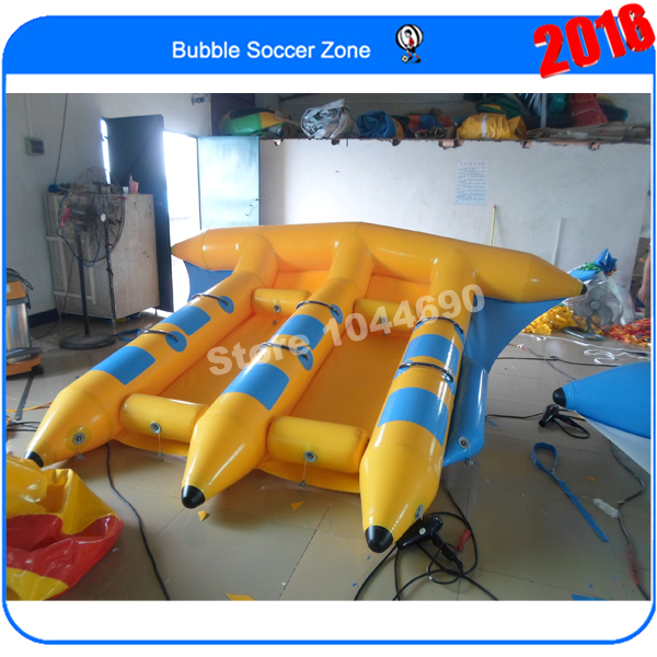 Free shipping 4*3m inflatable flying fish tube towable,inflatable banana fly fish 6 persons inflatable flying fish tube towable inflatable flying fish banana boat inflatable towable flying fish water sports