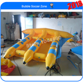 Free shipping 4*3m inflatable flying fish tube towable,inflatable banana fly fish