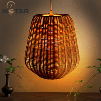 rattan rattan lamp chandelier bedroom dining study personality of classical Chinese New Retro chandelier Chandelier