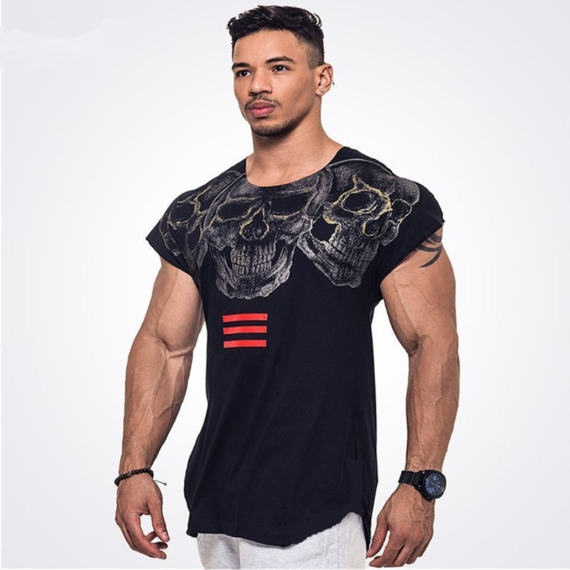 Men clothes brands sleeveless fitness   tank   muscle fitness workout   tank     top   fashion vest wear 2018