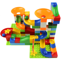 Rolling Ball Rail Building Blocks Enlighten Bricks Trajectory DIY Race Run Maze Balls Learning Education Toys