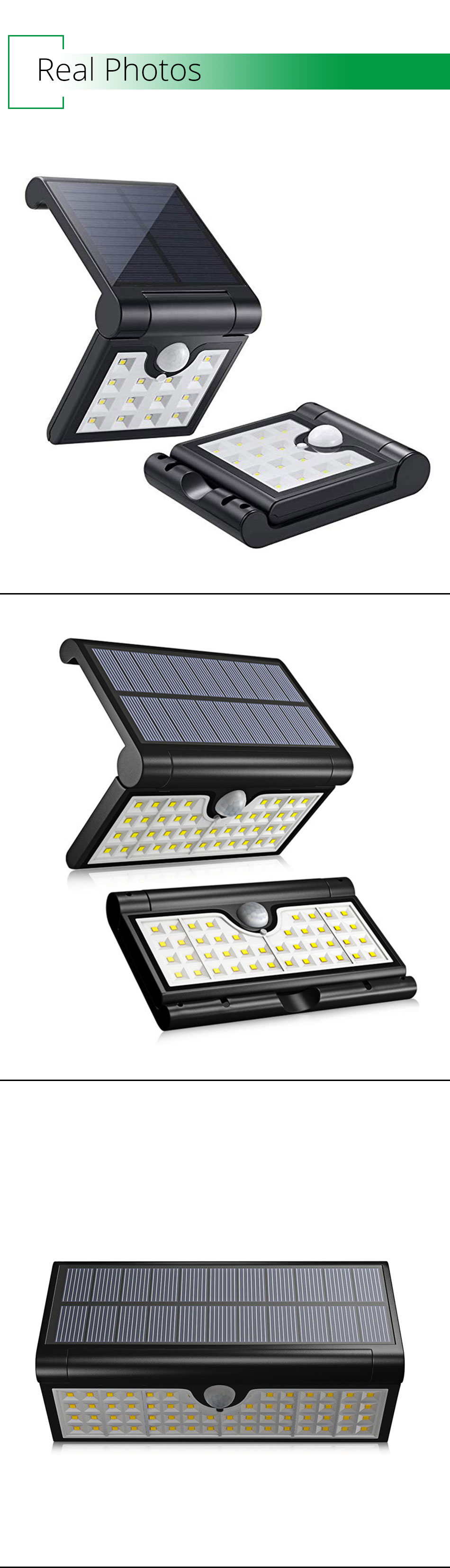 IP65 Outdoor Solar Led Lighting Home Garden Street Courtyard Solar Wall Lights Motion Sensor Lamp Modern Lithium Battery (8)