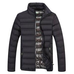 Image 3 - YIHUAHOO Winter Jacket Men Lightweight Windproof Casual Warm Park Jacket Winter Coat Cotton Padded Windbreaker Jacket Men JA1611