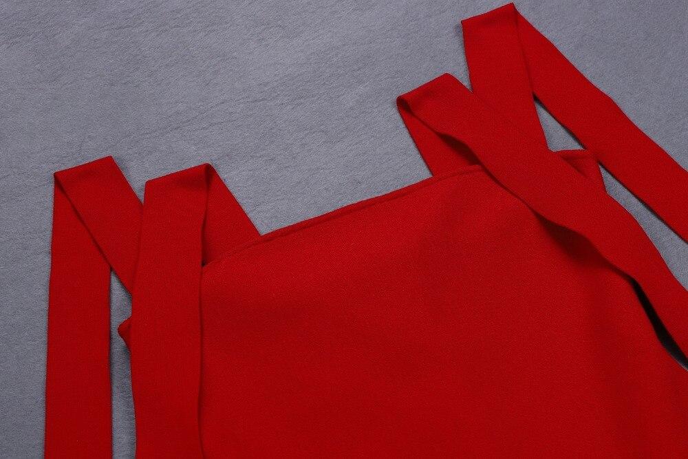 Top qualité Sexy femmes robe rouge débardeur dentelle Ups moulante élégante robe Stretch retour robe de soirée bourgeon - 4