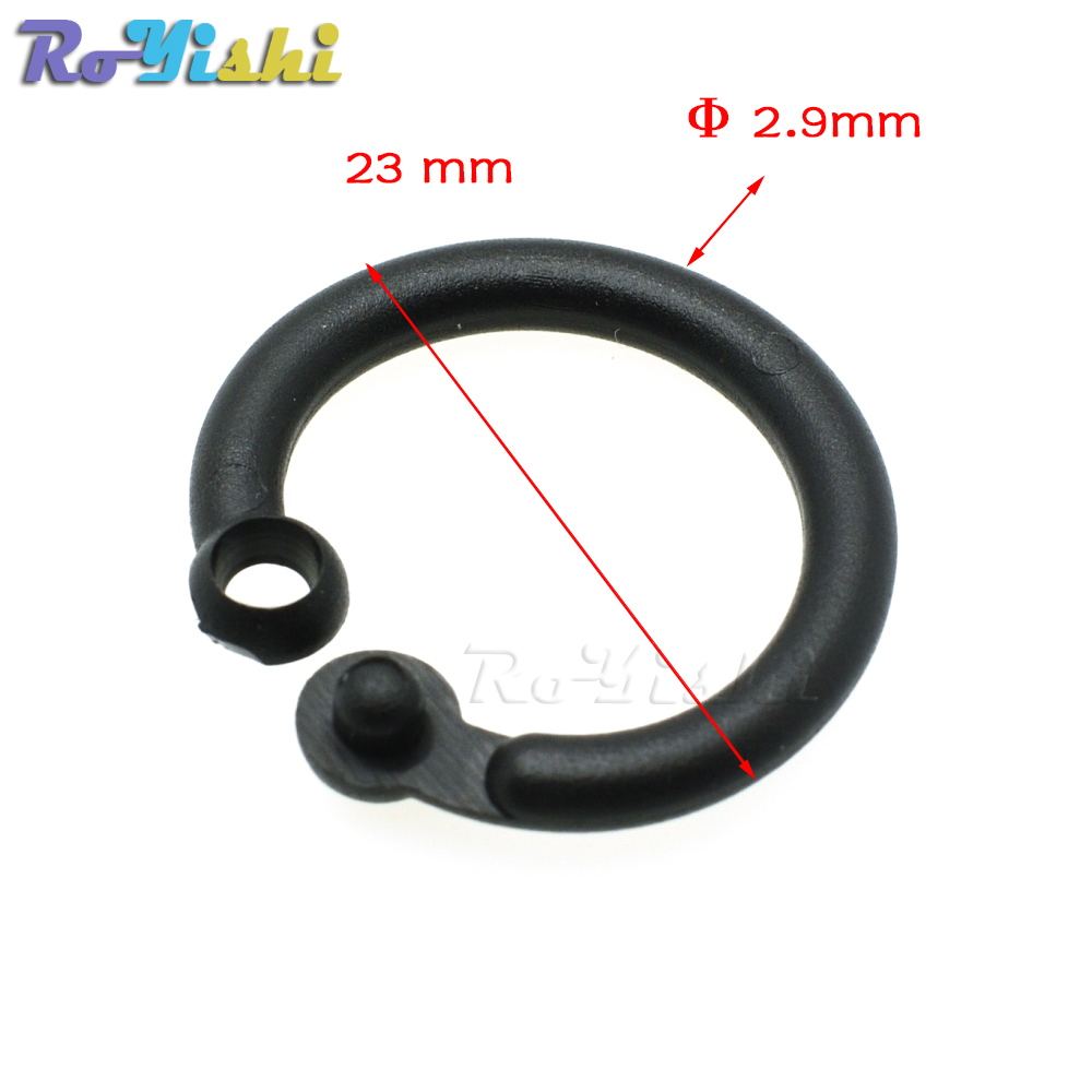 14.5mm Plastic Safety Loose Leaf Hinge Snap O Ring for Key Chain ...