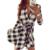 Explosiones 2015 vestidos de otoño de ocio de la vendimia mujeres de la tela escocesa en impresión de prueba de primavera camisa casual dress mini q0035
