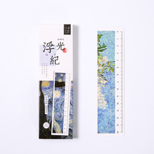 30pcs/box cute creative ruler Paper Bookmark kawaii Promotional Gift Stationery School office supplies