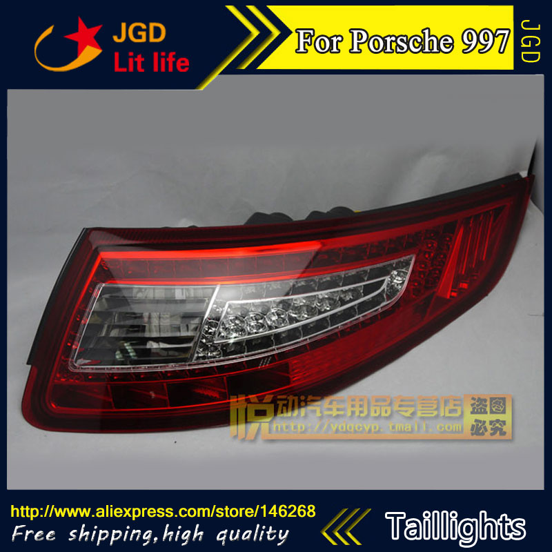 Car Styling tail lights for Porsche 997 2005-2008 taillights LED Tail Lamp rear trunk lamp cover drl+signal+brake+reverse car styling tail lights for toyota gt86 led tail lamp rear trunk lamp cover drl signal brake reverse