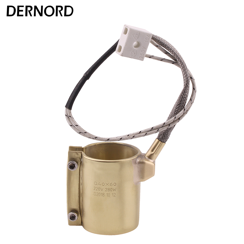 DERNORD Heating Element 220v 280w 40mm*60mm Brass Band Heater for Plastic Injection Machine 150 150mm 220v 2200w mica band heater stainless steel heating element for injection machine