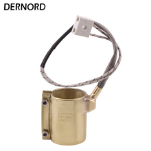 DERNORD Heating Element 220v 280w 40mm*60mm Brass Band Heater for Plastic Injection Machine цена и фото