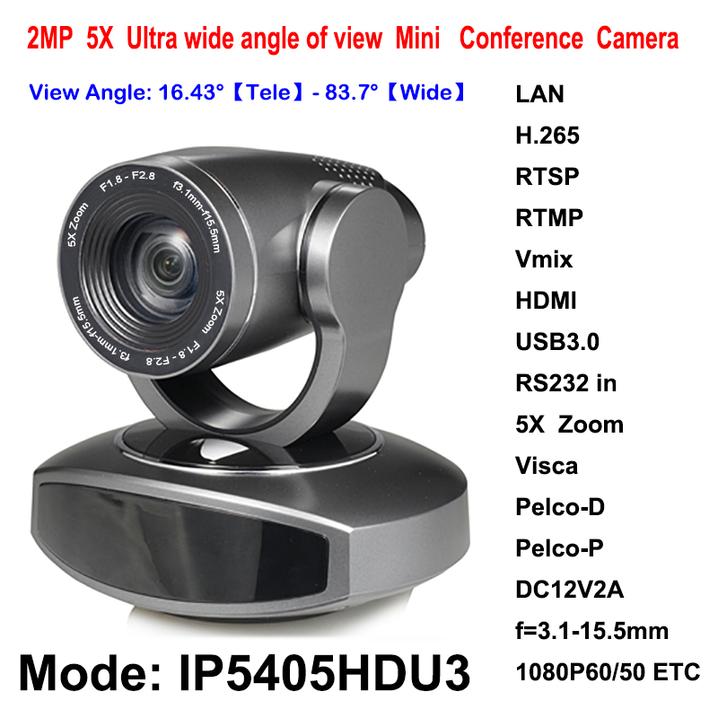 2MP Mini USB3.0 HD HDMI IP PTZ Video Streaming Camera 5x Optical Zoom Rtmp RTSP for Conference Rooms 2mp hdmi full hd broadcast 12x zoom ptz video conference camera audio with ip usb2 0 usb3 0 interface