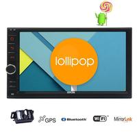 Android 5.1 Interchangeable Car Radio Double 2 Din Android GPS radio recorder 2din audio player android headunit Free gps map