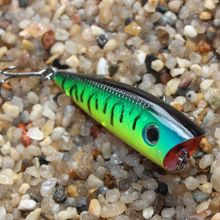 1Pcs 6cm 6.5g Top water Fishing Lures Popper Lure Crankbait Minnow Hooks 8# Swimming Crank Baits YE-236