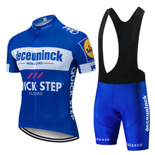 2019 Pro Team Quick Step Cycling Jersey 9D Pad Conjunto Bib Roupas Bicicleta Ropa Ciclism Desgaste Bicicleta Roupas Masculinas Curto maillot Culotte(China)