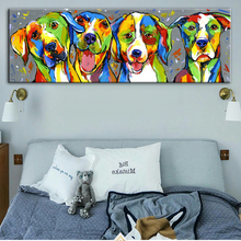 Abstract Wall Graffiti Art Canvas Prints Watercolor Animals Pop Paintings On The Pictures For Kids Room Decor
