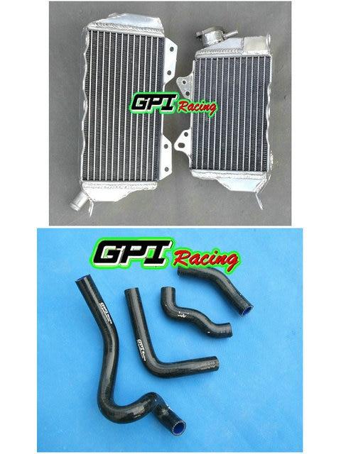 GPI aluminum racing Radiator + black hose FOR 1993 1996 Kawasaki