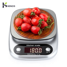 KONCO Kitchen Scale, 10kg/1g Portable Mini Digital Food Scale, Pocket Case Jewelry Weight Balance Electronic Scale acct 2000g x 0 1g mini weight scale portable electronic digital scale pocket kitchen jewelry high accuracy balance silver tools