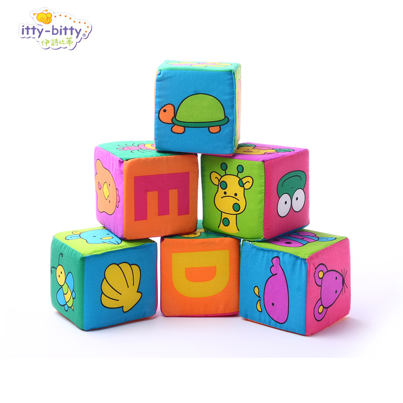Funny 1pc Lala Baby Pacify 9cm Blocks Rattles Letter