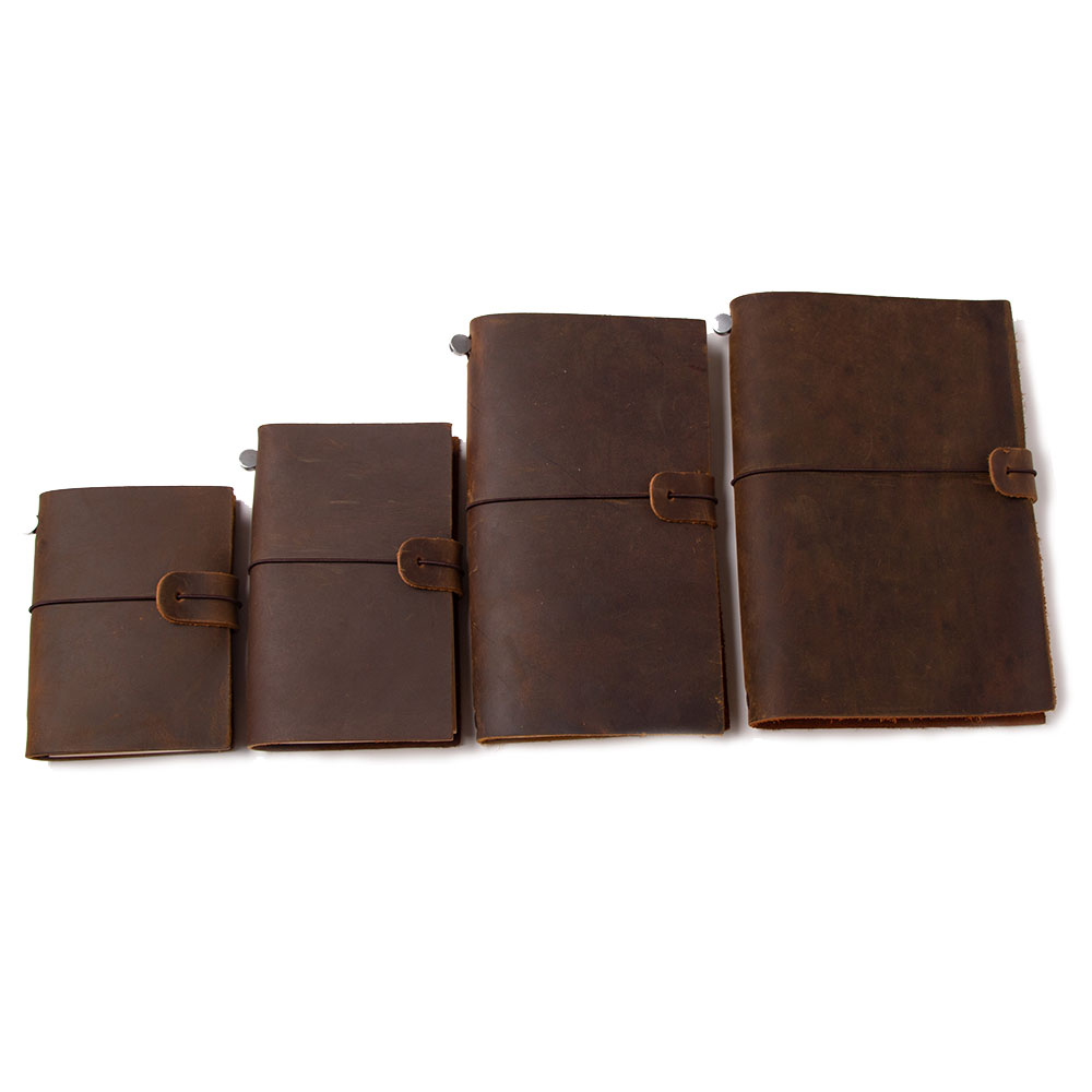 Travelers Notepad Genuine Leather Traveler Notebook Travel Diary Tsmip Set SIZE 22X16CM