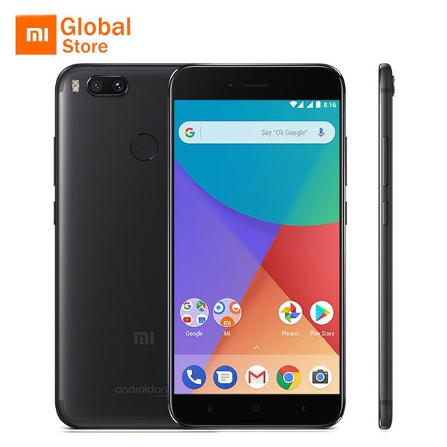 "Global Version Xiaomi Mi A1 MiA1 Mobile Phone 4GB RAM 64GB ROM Snapdragon 625 Octa Core B20 Dual 12.0MP Android One 5.5"" 1080P"