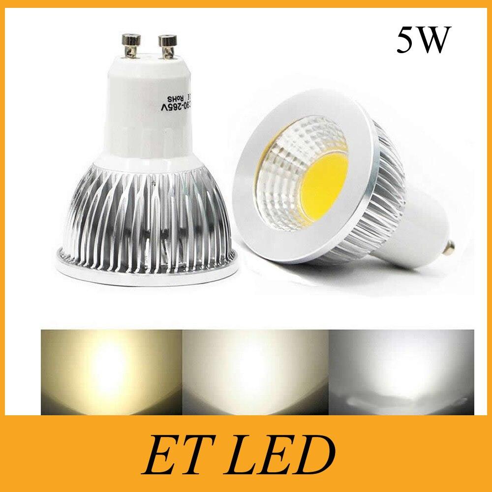 Dimmable LED Spotlights COB 5W GU10 MR16 E27 GU5.3 E14 Bulb 30W Equivalent Lamps
