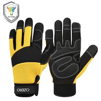 Guantes de trabajo mecánicos OZERO con agarre Extra flexible Unisex, guantes de seguridad para soldar, guantes deportivos para jardín 9022