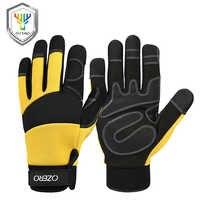 OZERO Mechanical Work Gloves Flex Extra Grip Unisex Working Welding Safety Protective Garden Sports Gloves 9022