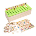 Baby Kids 80pcs Wooden Puzzle Number Fruit Animal Classification Box Kids Child Early Educational Cognitive Puzzle Toy Gift
