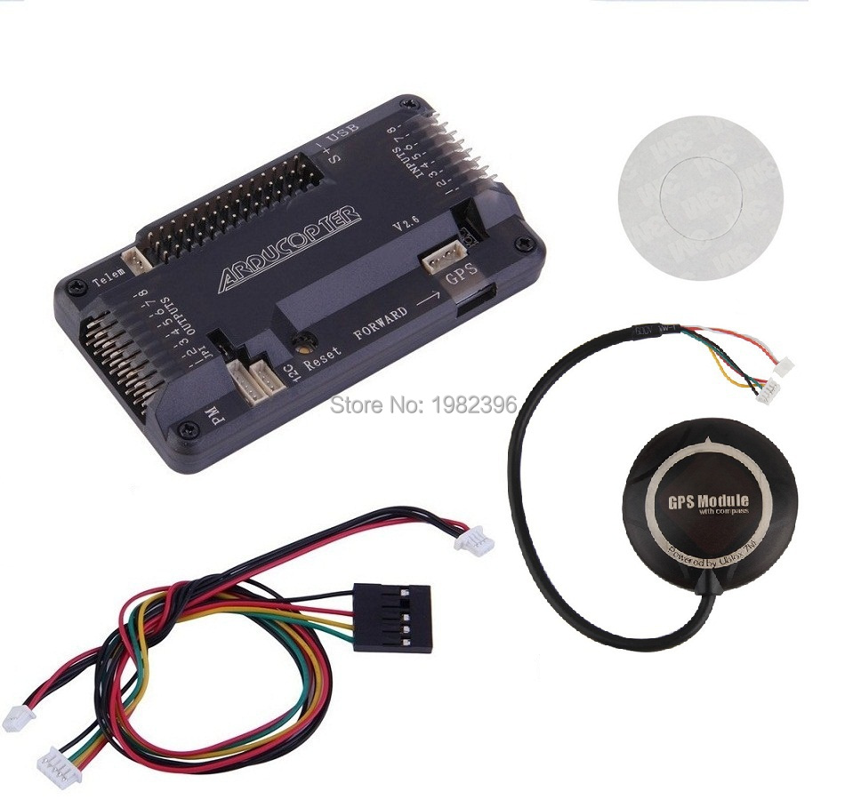 US $37 05 |ArduPilot Mega APM 2 6 Flight Controller + Ublox NEO 7M 7M GPS  w/ compass Better than 6M+xt60 power module-in Parts & Accessories from  Toys