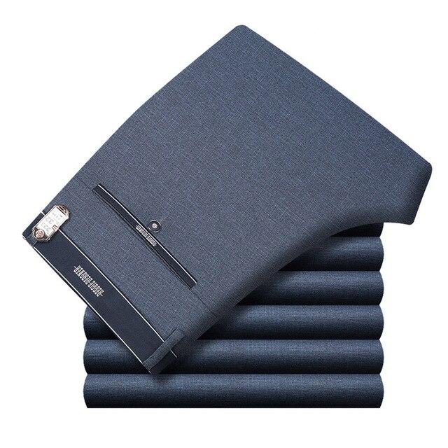 Icpans Для мужчин s костюм брюки летние Для мужчин Брюки прямые Бизнес офисные Для мужчин s Формальные Брюки большой Размеры классические брюки мужские