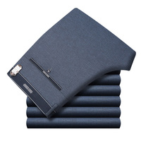 Icpans Mens Suit Pants Summer Men Dress Pants Straight Business Office Mens Formal Pants Big Size Classic Trousers Male