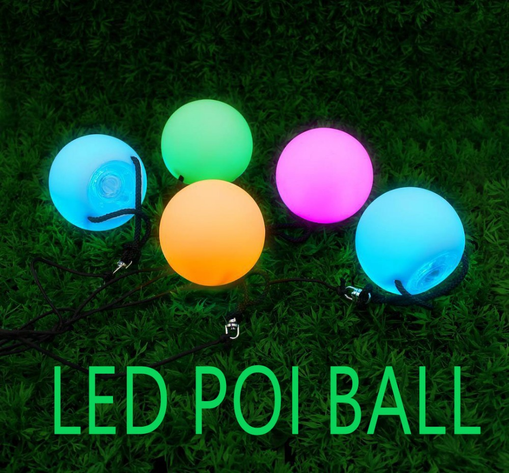 LED Glow POI Ball Belly Dance Accessories RGB LED POI Thrown Balls Belly Dance Hand Props Stage Performance Accessories