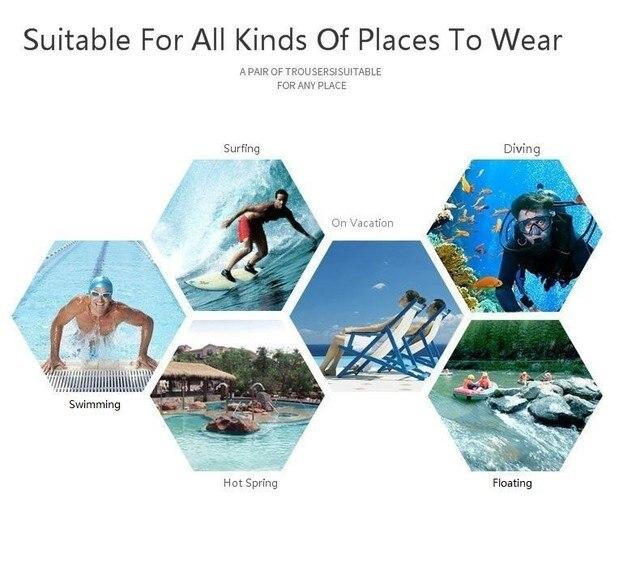 Ultrathin Board Shorts Men Swimwear Mens Swimming Shorts Beach Surf Boardshorts Mens Swim Trunk Wear Bath Suit Water Sport Short 6