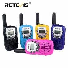 2 шт. мини walkie talkie радио дети retevis rt388 0.5 Вт 22ch vox нам частота портативный ветчина радиостанции детей подарок на день рождения