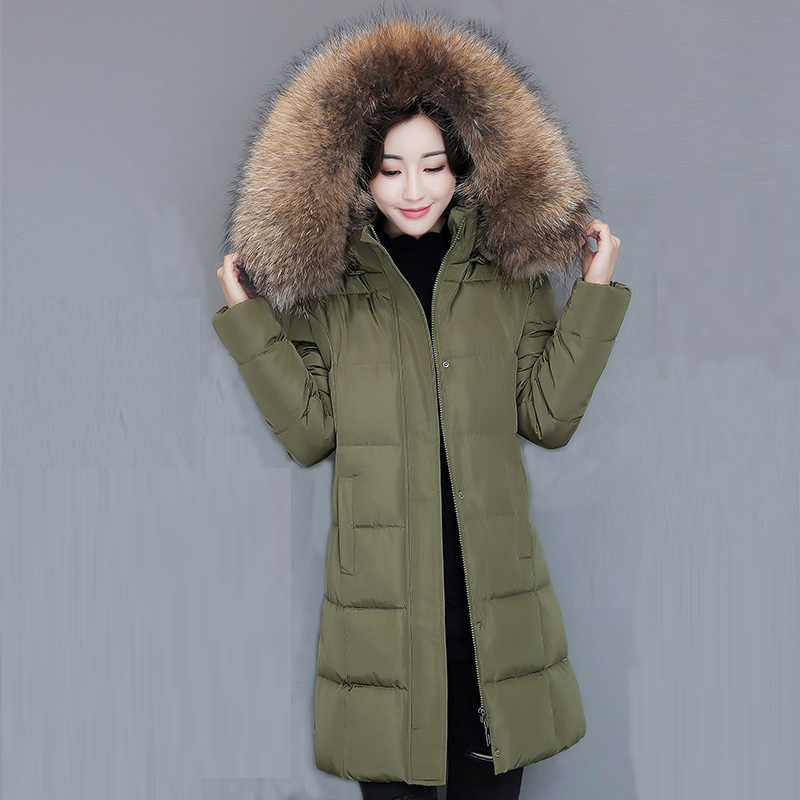 2017 Winter Wadded Parka Women Padded Long Cotton Coat Faux Fur Collar Female Jackets Winter Hooded Cotton Coats Overcoat FP0008 2017 winter faux fur collar parkas women long cotton coats hooded overcoat slim female jacket warm wadded padded coats fp0023