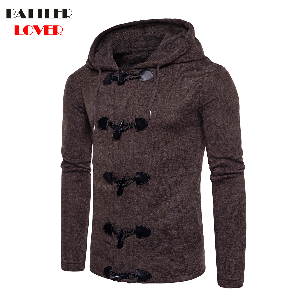 BATTLERLOVER Zipper Hoodies Palace Clothing Jacket Sweatshirts Cardigan Casual Slim New