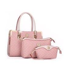 CHISPAULO 3Pcs Set Women Bags Designer PU Leather Floral Print Handbags Women Messenger Bags Crossbody Bags
