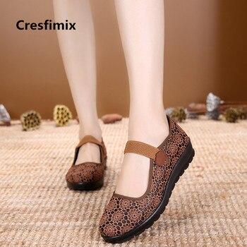 Женские лоферы на плоской подошве Cresfimix, весенне-Летние слипоны, удобные лоферы для танцев в стиле ретро, Повседневная Уличная обувь, a2029