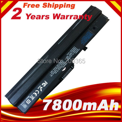 7800mAh Battery For MSI BTY-S11 BTY-S12 Wind U100 L1300 L1350 L1350D U100X U100W U135DX U210 U270 U90X Wind12 U200 U210 U230 golooloo 6600mah black laptop battery for msi u100 u90 u210 u200 bty s12 u230 bty s11 for lg x110 for medion akoya mini e1210