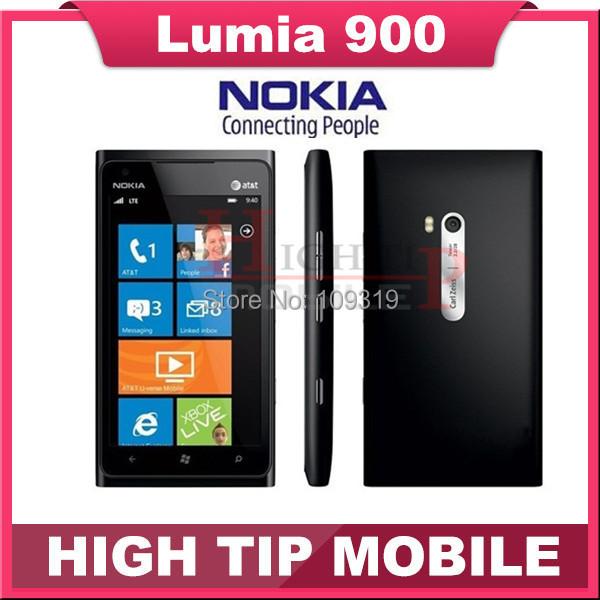 Nokia lumia 900 teléfono móvil abierto original 3g gsm wifi gps 8mp 16 gb de memoria del sistema operativo windows reformado 1 año de garantía