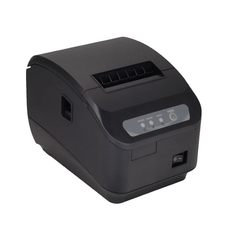pos printer High quality 80mm thermal receipt printer automatic cutting USB+Serial port/Ethernet ports 200 mm / s wholesale brand new 80mm receipt pos printer high quality thermal bill printer automatic cutter usb network port print fast