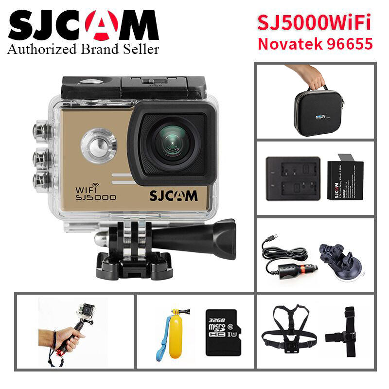 Original SJCAM SJ5000 WIFI Action Camera 30m waterproof 2.0' Screen 1080p HD 14MP sport Camera go extreme pro cam VS EKEN H9R/H9 2017 arrival original eken action camera h9 h9r 4k sport camera with remote hd wifi 1080p 30fps go waterproof pro actoin cam